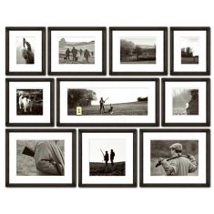 Ben Wood's Set of Ten Black and White Framed Shooting Prints-FREE SHIPPING!