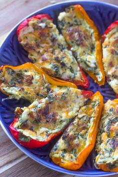 5 Cheese & Spinach Stuffed Sweet Peppers