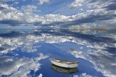 Озеро Уюни, поверхность которого покрывает толстый слой поваренной соли.