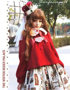 Surface Spell ~Cats in My Courtyard~ Lolita Short Coat - My Lolita Dress
