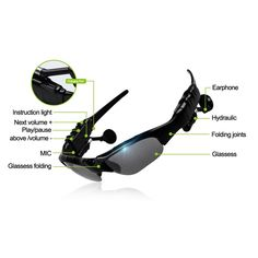 11.74$  Buy now - http://alie7l.shopchina.info/go.php?t=32619680453 - Original Sunglasses Wireless Bluetooth Headphones Smart Glasses Polarized Eyewear Headset For Android / IOS Smart Electronics 11.74$ #magazineonline