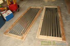 Farm Style Corrugated Tin Closet Doors with PureBond