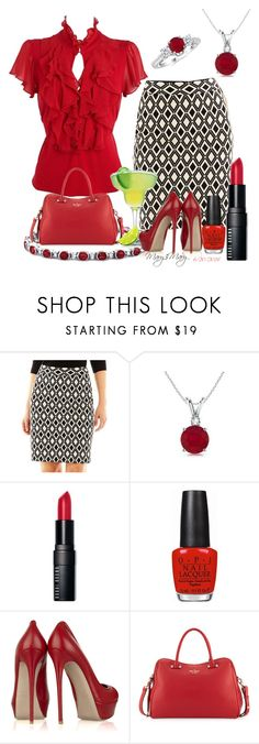 """TGIF!!! After Work Happy Hour :) :)"" by octobermaze ❤ liked on Polyvore featuring Debenhams, Worthington, Bobbi Brown Cosmetics, OPI, Valentino and Kate Spade"