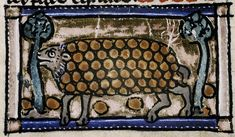 "The clever hedgehog picks up fruit on its spines, so it can bring food to its family. From the 'Bestiare d'Amour': ""So it is protected by being armed on all sides, just like some people who cannot be approached from any side""."
