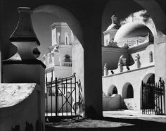 North Court, San Xavier del Bac, Tucson, Arizona, 1968  Ansel Adams - Arches