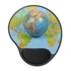 World Traveler Gel Mousepad #World #Traveler #gel #Mousepad by @alexiotzovphotograph @Zazzle/alexiotzovphotograph http://www.zazzle.com/world_traveler_gel_mousepad-159431919878424013 #map #spherical #world