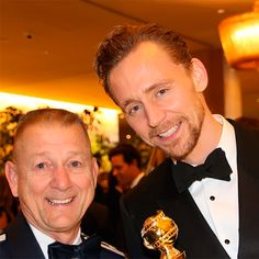 """Gus Schalkham: """"In this photo I'm with Tom Hiddelston who plays Loki in Thor and on this night won a Golden Globe for The Night Manager"""" ( https://m.facebook.com/photo.php?fbid=10207832411478301&id=1535508693&set=gm.1388624187848469&source=57&__tn__=E&fbt_id=1388624187848469&lul&ref_component=mbasic_photo_permalink_actionbar&_rdr#s_bb99d5d5f8c98954dfbdcec437c0c1e8 ) Full size image: http://maryxglz.tumblr.com/post/156307508137/gus-schalkham-in-this-photo-im-with-tom"""