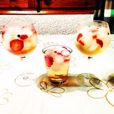3 #gintonic's with #gvineflourasion & #fevertree #juniper #licorice and #strawberry
