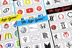 Free Printable Logo Games Can you name the Logos? Quiz