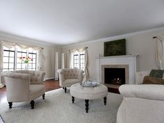 Gracious 1936 house has an open, flowing floor plan, beautiful windows and hardwood floors throughout.