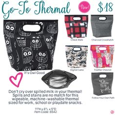 Go-To Thermal by Thirty-One. Fall/Winter 2016. Click to order. Join my VIP Facebook Page at https://www.facebook.com/groups/1603655576518592/