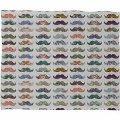 bianca green bedding | Amazon.com: DENY Designs Bianca Green Mustache Mania Fleece Throw ...