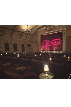 Catch a film at the Electric Cinema Cinemas don't get trendier than the Electric; with freshly baked donuts, roomy leather seats and footstools with cashmere blankets tucked inside; you'll never go to a standard cinema again. Thanks to its owners - the Soho House Group - it has an exclusive feel with only one screen so be sure to book in advance. 191 Portobello Road