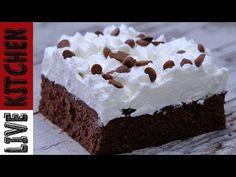Μαμαδίστικο Γλυκάκι (Πανεύκολο & Πεντανόστιμο)Mammy's Chocolate dessert - Live Kitchen - YouTube Cold Desserts, Something Sweet, Kitchen Living, Custard, Food And Drink, Cooking Recipes, Treats, Fresh, Youtube