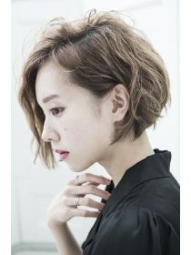 ミエルヘアー 新宿エスト3号店(miel hair) 【miel hair 新宿3号店】甘辛ミックスで攻めるショートボブ