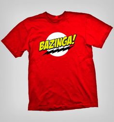 Muestra tu fanatismo Nerd y Geek con esta espectacular polera Bazinga! con The Big Bang Theory Big Bang Theory, Bigbang, Nerd, Geek Stuff, Glee, Mens Tops, T Shirt, Women, Fashion
