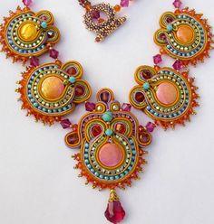 Oriental Sunrise Soutache necklace