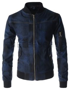 Denim Jacket Men, Men's Denim, Leather Jacket, Denim Style, African Clothing For Men, Men Casual, Style Casual, Slim Man, Jeans Fit