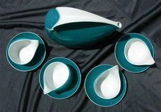 Fabulous Retro Cmielow Polish Porcelain Space Age Tea Set, via Etsy.