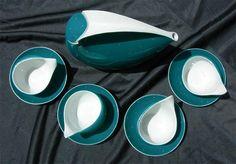 Fabulous Retro Cmielow Polish Porcelain Space Age Tea Set, via Etsy.