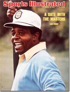 Lee Elder, PGA golfer.  He is best remembered for becoming the first African-American to play in the Masters Tournament in 1975.  Nice guy. I met him in Escondido, CA about 2005.