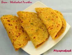 Besan – Whole wheat Parathas - A delicious parathas, best with pickles, curd . . Makes: 8 Ing...