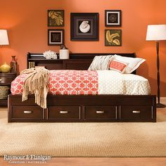 While kids are sure to love this bed, parents will be happy to know it features plenty of storage space in the headboard and footboard! What a great way to keep your kids' rooms organized!