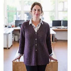 Go-To Cardigan Pattern – Knit Purl