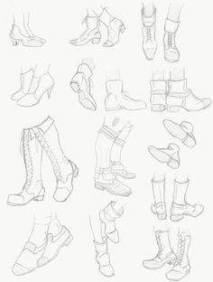 Shoes study by cerisebio.deviantart.com on @DeviantArt