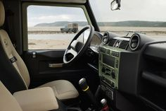 17 Photos That Will Make You Want A Land Rover Defender Heritage Edition - Airows Land Rover Defender Interior, Land Rover Defender 110, Defender 90, Landrover Defender, Land Rovers, What Is Set, Beach Cars, Upcoming Cars, Auto Motor Sport