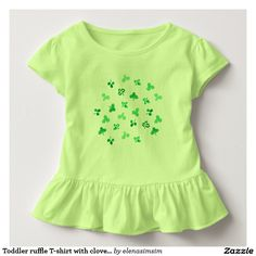 Toddler ruffle T-shirt with clover leaves