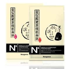 - Neogence Centella & Licorice Root Hydrate Chinese Herbal Extract Black Mask - Made in Taiwan Liquorice Recipes, Korean Products, Hydrating Mask, Centella, Herbal Extracts, Black Mask, Mask Making, Herbalism, Chinese