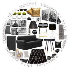 """Under 500"" by marionmeyer on Polyvore featuring interior, interiors, interior design, Zuhause, home decor, interior decorating, Maytex, Atlantic, Umbra und Trademark Fine Art"