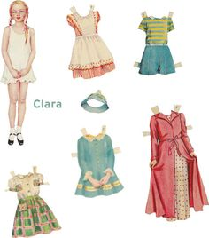 Paper Doll 17 — Vintage —  Digital Collage Sheet by CacheCache
