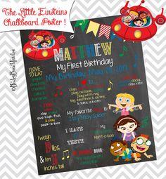The Little Einsteins Birthday Chalkboard by BaileyBunchInvites