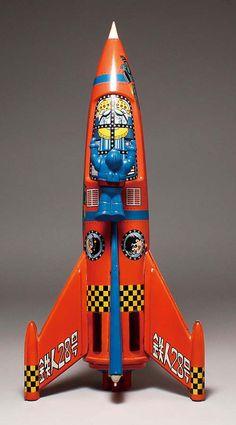 ヨネザワ/日本製 鉄人28号ロケット Toy Rocket, Retro Rocket, Rocket Ships, Metal Toys, Tin Toys, Vintage Robots, Vintage Toys, Space Toys, Vintage Space
