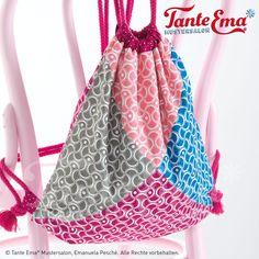 """Tante Ema®Baumwollstoffe aus der Kollektion """"Be yourself"""". Baumwollstoffe für tolle und farbig-bunte Taschen und andere DIY Ideen."""
