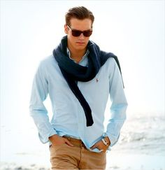 Ralph Lauren at the beach