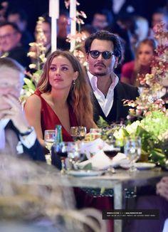 Amber Heard & Johnny Depp at The Art Of Elysium's 9th Annual Heaven Gala - Inside (2016)