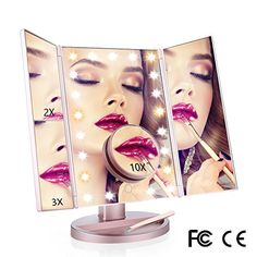 Vanity Makeup Mirror 21 LED Lighted Tri-Fold Mirror with ... https://www.amazon.fr/dp/B075ZPGQ4Q/ref=cm_sw_r_pi_dp_x_oiChAb8DXZHEH