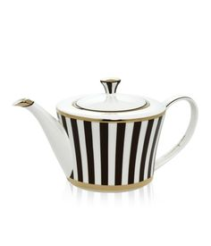 Henri Bendel Tea Pot from Henri Bendel. Saved to Keep Calm and Cook On . Shop more products from Henri Bendel on Wanelo. Chocolate Pots, Chocolate Coffee, Teapots And Cups, My Cup Of Tea, Henri Bendel, Cup And Saucer, Tea Time, Tea Party, Tea Cups