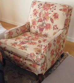 Traditional Floral Club Chair Club Chairs, Side Chairs, Upholstery, Side  Chair, Dining