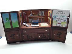 U-fold card desk grandfather