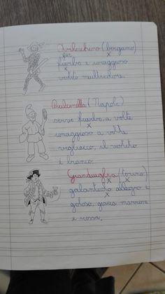 Classe Terza- Febbraio- Italiano- Carnevale - Maestra Anita Bullet Journal, Coding, Teaching, Education, School, Learning Italian, Cl, Dessert, Geography