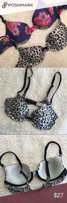 Victoria Secret 32B Victoria Secret 32B Pattern Printed Bras - this listing is the price for both bras however they are listed separately in my closet as well. PINK Victoria's Secret Intimates & Sleepwear Bras