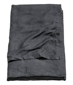 Överkast i tvättat linne | Antracitgrå | Home | H&M SE