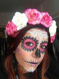 maquiagem rosa de caveira mexicana                                                                                                                                                                                 Mais