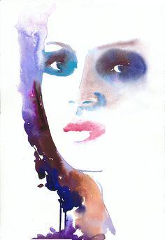 Original Watercolour Painting Titled Kate by silverridgestudio.