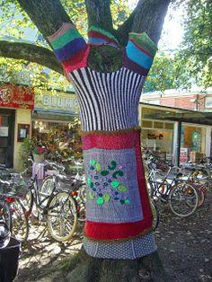 Guerilla Knitting in der Waitzstraße