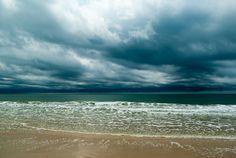 Atlantic ocean after the storm - Holden Beach, North Carolina